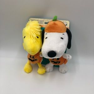 2Pack Halloween Snippy&Woodstock Squeaky Pet Toys